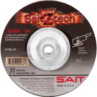 "United Abrasives - Sait 22610 Depressed Center Wheel T27 4-1/2""x 1/4"" x 5/8-11"" 24 Grit Zirconium - Pkg Qty 10"