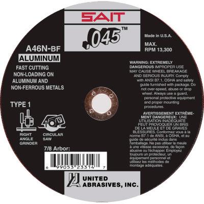 """United Abrasives - Sait 23316 Cut Off Wheel Type 1 A46N 6"""" x .045"""" x 7/8"""" 46 Grit Aluminum Oxide - Pkg Qty 50"""