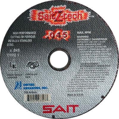 """United Abrasives - Sait 23323 Cut Off Wheel Type 1 Z-TECH 4"""" x .045"""" x 5/8"""" Zirconium - Pkg Qty 50"""