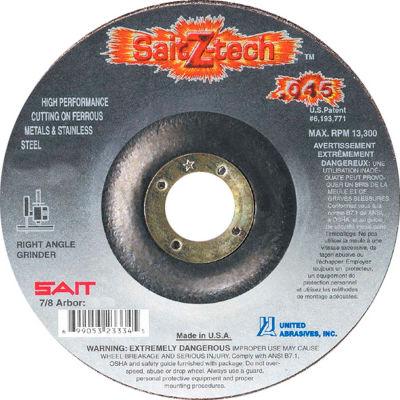"United Abrasives - Sait 23335 Depressed Center Wheel T1 Z-TECH 5""x .045"" x 7/8"" Zirconium - Pkg Qty 50"