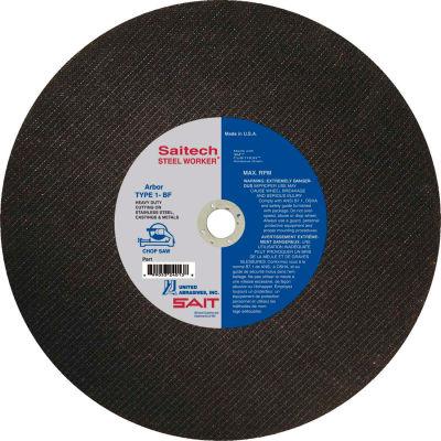 "United Abrasives - Sait 24033 Cut Off Wheel Type 1 Steelworker 12"" x 3/32"" x 1"" Ceramic - Pkg Qty 10"