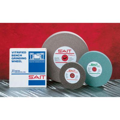 """United Abrasives - Sait 28021 Bench Wheel Vitrified 8"""" x 3/4"""" x 1"""" 60 Grit Aluminum Oxide"""