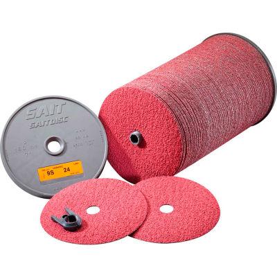 "United Abrasives® Sait 9S Fiber Disc, 36 Grit Ceramic, 4-1/2"" x 7/8"" - Pkg Qty 100"