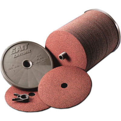 """United Abrasives - Sait 52700 AO Fiber Disc 7"""" x 7/8"""" 100 Grit Aluminum Oxide - Pkg Qty 100"""