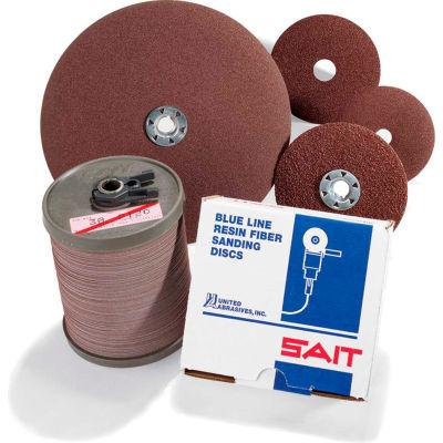 """United Abrasives - Sait 56024 2A Fiber Disc 4"""" x 5/8"""" 24 Grit Aluminum Oxide - Pkg Qty 100"""