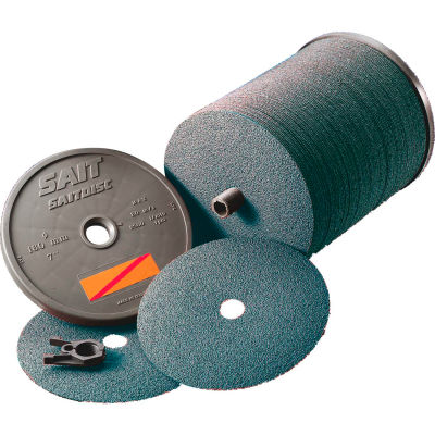 "United Abrasives - Sait 69324 AZ-X Fiber Disc 5"" x 7/8"" 24 Grit Zirconium - Pkg Qty 100"