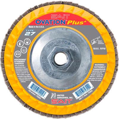 """United Abrasives - Sait 72311 Ovation Flap Disc T27 5-1/2""""x 5/8-11"""" 120 Grit Zirconium - Pkg Qty 10"""