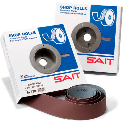 "United Abrasives - Sait 80607 DA-F Shop Roll 1-1/2"" x 10 Yds 60 Grit Handy Roll Aluminum Oxide"