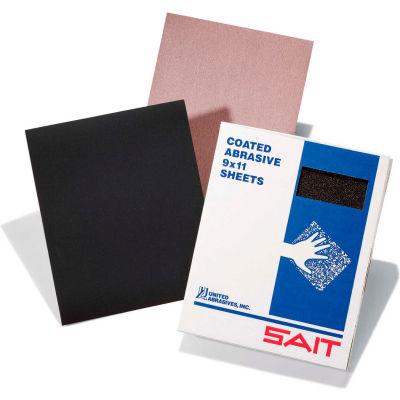 "United Abrasives - Sait 84258 Water Proof Sanding Sheets 9"" x 11"" 500 Grit Silicon Carbide - Pkg Qty 100"