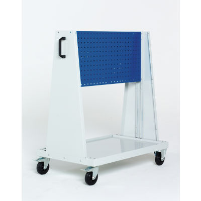 """39x18x47""""Trolley - 1 Perfo Panels - Louvered Panel"""