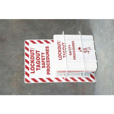"Accuform KSS142 Lockout Procedure Station, Aluminum, 14-1/4""W X 21-1/5""H"