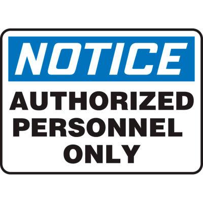 """Accuform MADC800VA Admittance & Security Sign, Notice, 10""""W x 7""""H, Aluminum"""
