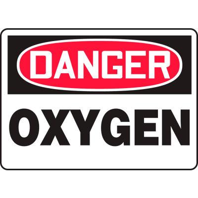 "Accuform MCHL170VP Danger Sign, Oxygen, 14""W x 10""H, Plastic"