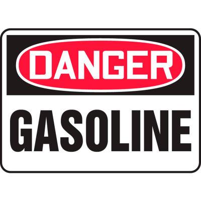 """Accuform MCHL245VA Danger Sign, Gasoline, 14""""W x 10""""H, Aluminum"""
