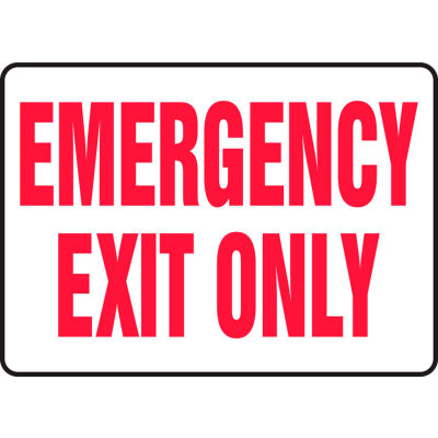 "Accuform MEXT584VP Exit Safety Sign, 10""W x 7""H, Plastic"