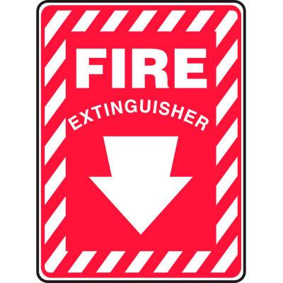 "Accuform MFXG417VS Fire Extinguisher Sign, 7""W x 10""H, Adhesive Vinyl"