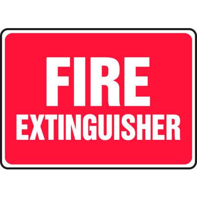 "Accuform MFXG588VS Fire Extinguisher Sign, 14""W x 10""H, Adhesive Vinyl"