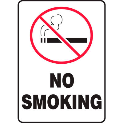 "Accuform MSMK407VP No Smoking (Graphic) Sign, 7""W x 10""H, Plastic"
