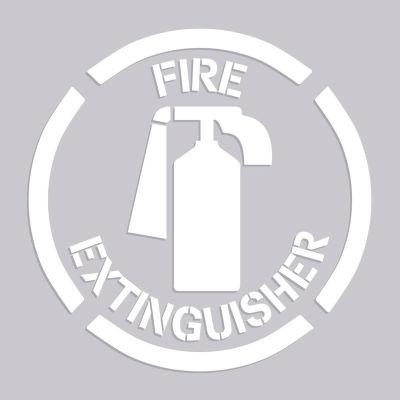 "Accuform PMS214 Floor Stencil - Fire Extinguisher - 20"" x 20"""