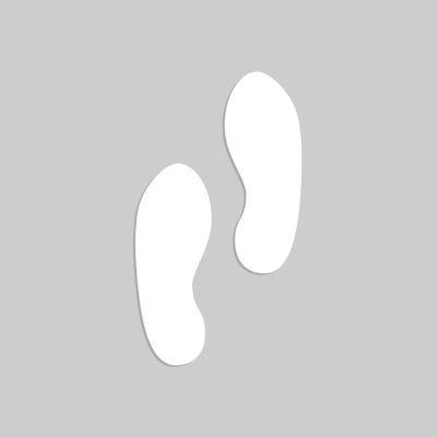 "Accuform PMS223 Floor Stencil - (Footprints) - 20"" x 20"""