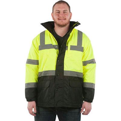Utility Pro™ Hi-Vis Parka Jacket, ANSI Class 3, 4XL, Yellow/Black