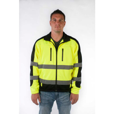 Utility Pro™ Hi-Vis Full Zip Jacket, ANSI Class 3, XL, Yellow/Black