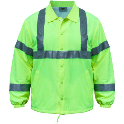 Utility Pro™ Hi-Vis Nylon Windbreaker, ANSI Class 2, 2XL, Lime