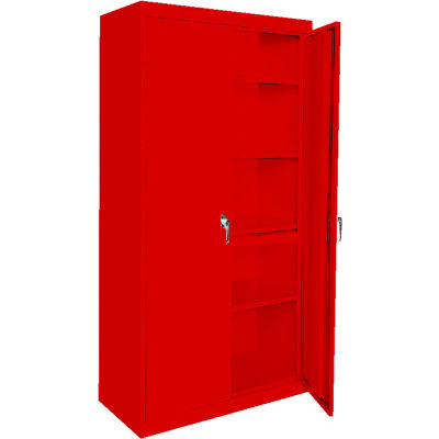 """Steel Cabinets USA AAH-30RB-R Storage Cabinet All-Welded 30""""Wx18""""Dx72""""H Red"""