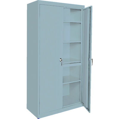 """Steel Cabinets USA AAH-33RB-DB Storage Cabinet All-Welded 33""""Wx18""""Dx72""""H Denim Blue"""