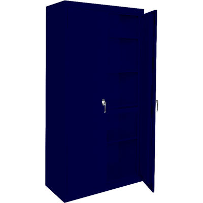 """Steel Cabinets USA AAH-33RB-N Storage Cabinet All-Welded 33""""Wx18""""Dx72""""H Navy"""