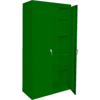 """Steel Cabinets USA AAH-36RB-L-GRN Storage Cabinet All-Welded 36""""Wx18""""Dx72""""H Leaf Green"""