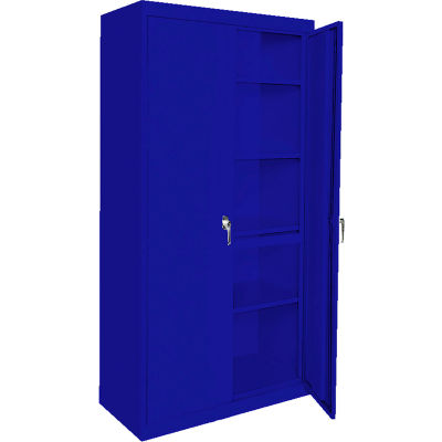 "Steel Cabinets USA AAH-36RBMAG1-BL Storage Cabinet All-Welded 36""Wx24""Dx72""H Blue"