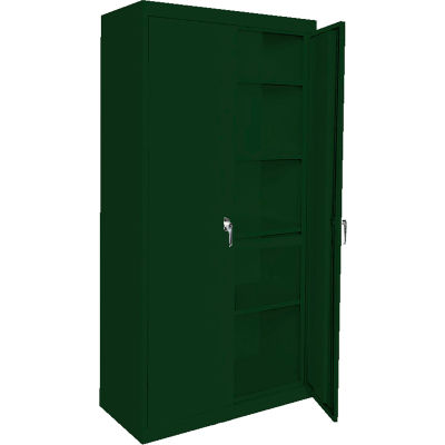 "Steel Cabinets USA Magnum Series All-Welded Storage Cabinet, 36""Wx18""Dx78""H, Hunter Green"