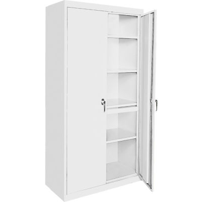 "Steel Cabinets USA Magnum Series All-Welded Storage Cabinet, 36""Wx18""Dx78""H, White"