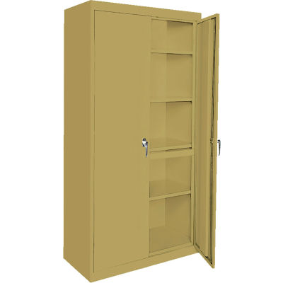 """Steel Cabinets USA Magnum Series All-Welded Storage Cabinet, 48""""Wx24""""Dx72""""H, Tropic Sand"""