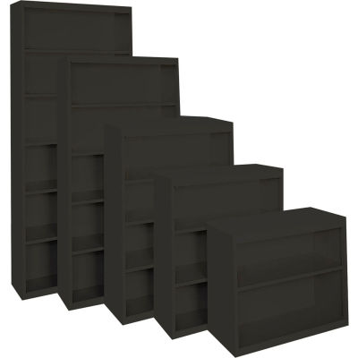 """Steel Cabinets USA All-Welded Bookcase, 36""""Wx13""""Dx30""""H, Charcoal"""