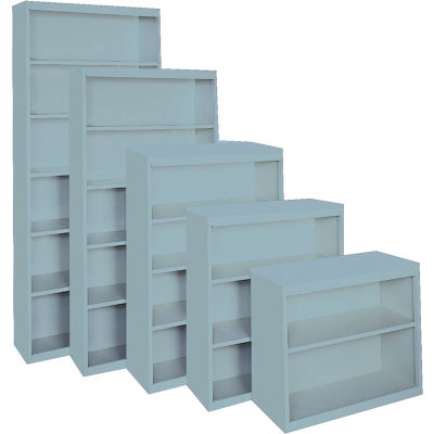 """Steel Cabinets USA All-Welded Bookcase, 36""""Wx18""""Dx52""""H, Denim Blue"""