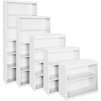 """Steel Cabinets USA BCA-365218-W Bookcase All-Welded 36""""Wx18""""Dx52""""H White"""