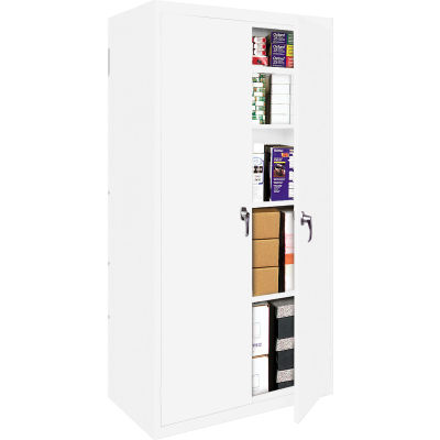 "Steel Cabinets USA FS-227-W Storage Cabinet All-Welded 27""Wx15""Dx72""H White"