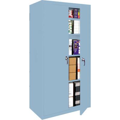 "Steel Cabinets USA FS-30-DB Storage Cabinet All-Welded 30""Wx18""Dx72""H Denim Blue"