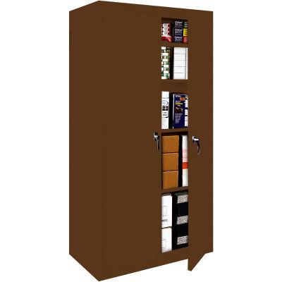 "Steel Cabinets USA FS-30-WAL Storage Cabinet All-Welded 30""Wx18""Dx72""H Walnut"