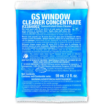 Stearns GS Window Cleaner Concentrate - 2 oz Packs, 48 Packs/Case - 2384002