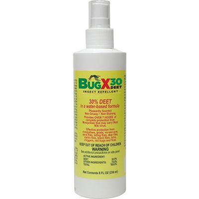CoreTex® Bug X 30 12656 Insect Repellent, 30% DEET, 8oz Pump Spray Bottle, 1-Bottle - Pkg Qty 12