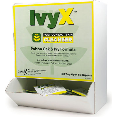 CoreTex® Ivy X 84661 Post-Contact Cleanser, Posion Oak & Ivy Lotion, Wallmount, 50 Packets