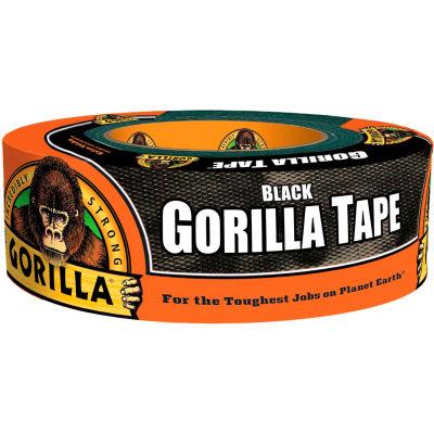 "Gorilla Black Duct Tape, 1.88"" x 35 yd - Pkg Qty 18"