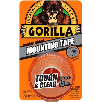 "Gorilla Tough & Clear Mounting Tape, 1"" x 60"" - Pkg Qty 6"