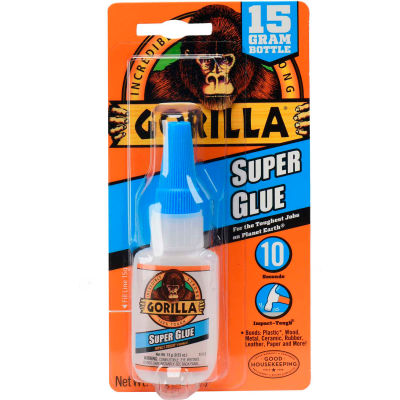 Gorilla Super Glue, 15 Grams - Pkg Qty 24