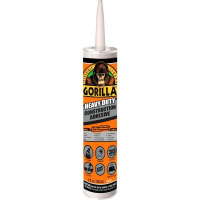 Gorilla Heavy Duty Construction Adhesive Tube, White, 9 oz. - Pkg Qty 12