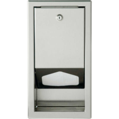Foundations® Baby Changing Table Liner Dispenser - Stainless Steel, 200-SSLD
