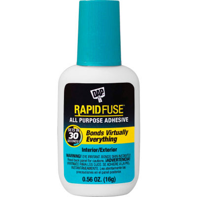 DAP® RapidFuse® All Purpose Adhesive Brush Applicator - 16.0 gm., Clear - 7079800173 - Pkg Qty 6